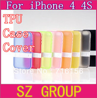 Free Shipping Translucent belt mount phone case tpu protective case For apple iphone4 4s