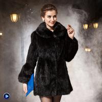 2013 mink fur female long design fur overcoat outerwear fight mink fur