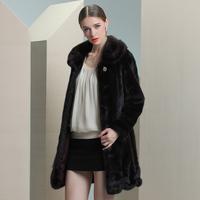 2013 mink fur outerwear marten overcoat mink overcoat long design female