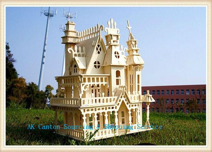 Model building diy wooden dreamy house villa toy miniature doll house