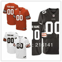 Free/Fast Shipping,Sewn On 2012 New Brand Custom Cleveland Elite Jerseys,Size:40,44,48,52,56,60.Accept Drop Shipping.