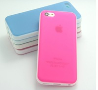 Candy Grind Arenaceous Transparent  Case For Apple iPhone 5 C Border Color TPU + Free Shipping