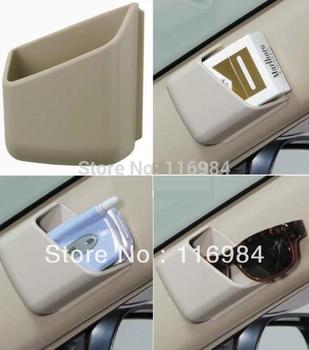 2pcs Multi-purpose paste type content box car Storage box of glasses/handset employ content box car compartment