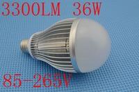 BrightnessNEW 36W LED Bulb Lamp High brightness Bubble ball bulb E27 B22 E40 85-265V AC Cold white/warm white Free shipping