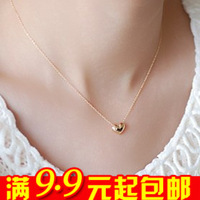 Free Shipping E4139 necklace female short design chain fashion gold plated small accessories love decoration necklace