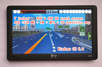 7.0 inches. Car GPS Navigator. 32GB +128 MB + New 3D Maps.WINCE 6.0 Core version. HD touch screen 800 * 480. Free shipping