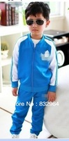 2013 latest children clothing coat + pants spring autumn fashion boys girls kids suit clothes / Free shipping