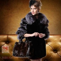 Fashion luxury fur coat medium-long women's mink autumn new arrival fur
