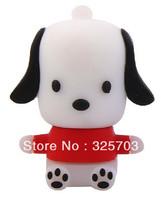 Free shipping, novel red lovely cartoon dog model 4 gb, 8 gb, 16 gb, 32 gb flash drive usb 2.0 / memory stick/car/thumb/gift