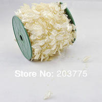 Free Shipping!60meters/roll IVORY leaf pearl garland wedding centerpiece flower table candle decoration crafting DIY accessory