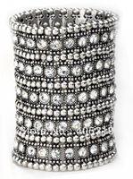 Fashion  Jewelry  5rows Elastic Wide Elastic Zinc Alloy Arm Bracelet