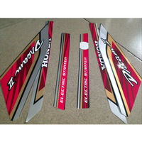 DIY Universal High Temperature Resistance,Waterproof Material Motorcycle Body Stickers - 1 Set