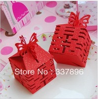 Cheapest price wedding candy Chinese style boxes favours decorations party gift bag 50pcs for free