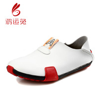 Foot wrapping shoes lazy fashion vintage men's male shoes low-top casual shoes male shoes white leather