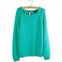 New autumn-summer 100% cotton slim pullover o-neck long-sleeve sweater women women's sweater fall 2013 cardigan women
