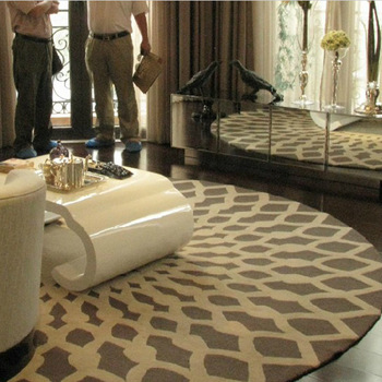Brief high quality pure wool carpet circle bedroom carpet coffee table living room carpet shop for carpet