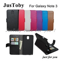 Galaxy Note 3 Leather Case,Lichi PU Leather Flip Wallet Pouch Case For Samsung Galaxy Note3 N9000 Note III