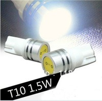 Free shiping 10x White T10 194 168 high power Car LED light Bulbs 1W