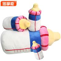 Free shipping new design creative doll Bottle hold pillow for  birthday gift Children's toys