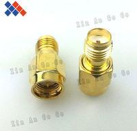 Wholesale 50pcs SMA male plug to SMA female jack straight goldplated RF SMA adapter free shipping