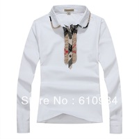 2013 New Arrive Free Shipping Women Turn Down Collar Long Sleeve Shirt With Button, Fashion Lady Shirt #1013-018