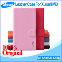 "In Stock! Original Xiaomi mi3 Quad core 1920*1080P 5"" phone leather case,Leather case for XIAOMI M3 MI3 with Free shipping"