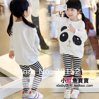Children's clothing female child t-shirt 2013 autumn paillette baby batwing long-sleeve shirt child large sweatshirt