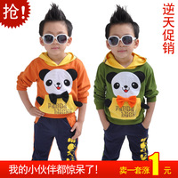2013 children's clothing male female child baby set baby spring and autumn child sports set