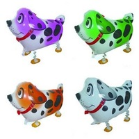 4 Colors High Quality Aluminum Foil Spotted Dog Animal Balloon Walking Pet Balloons Inflatables Toys Free Shipping
