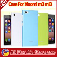 In Stock!! High Quality Anti-slip Matt PU Case for Xiaomi M3 MI3 , mix colors accept,HK free shipping