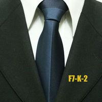 Popular Mens Business Formal Patchwork Neck Ties For Men Navy Blue Wedding Neckties For Man Business Gravatas 7CM F7-K-2