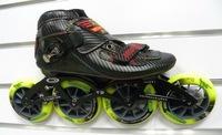 Free Shipping Simmons m1 senior speed skating shoes full carbon fiber professional shoes q7 7075 aluminum frame