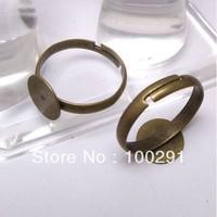300PCS Antiqued Bronze Adjustable 10mm Blank Pad Base Rings