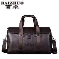 Travel bag male genuine leather handbag one shoulder big capacity cowhide travel bag luggage travel package man bag