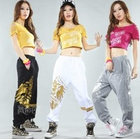 Ds hip-hop hiphop hip hop jazz thin bronzier push-up practice pants sports pants