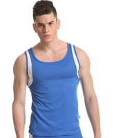Free Shipping Mens Active Undershirt Men Vest  Men Polyamide Sleep Wear 5 Colors Size M,L,XL