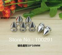Wholesale!!!  Hot #sale 10*16mm Silver Diamond DIY rivets accessories