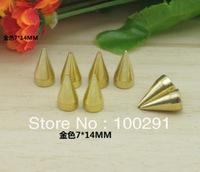 Wholesale!!!  Hot # 100pcs Gold DIY rivets accessories 7*14mm