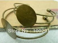 free shipping ### #399  Brass Bracelet,antique brass,Bracelet Base , round base 25mm