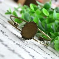 free shipping ### 123   new style  bracelet setting, bracelet blanks,antique bronze  oval stone base 18*25mm