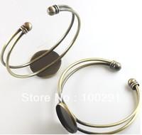 free shipping  beautiful bracelet setting, bracelet blanks,antique bronze  inner 20mm