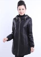 Hot!!! Free Shipping! Large-size women Fashion casual upscale sheep skin leather Motorcycle Jacket XL-6XL