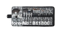 Professional Brush Black Rose Bag grade nylon hair -18pcs