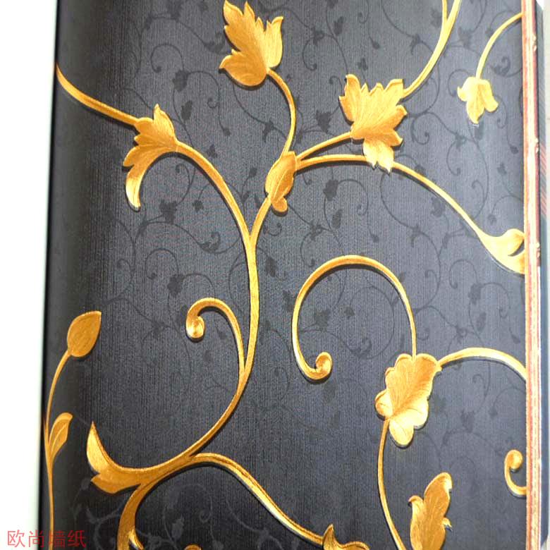 Online kopen wholesale zwart en goud behang uit china zwart en goud behang groothandel - Behang zwart en goud ...