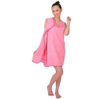 Wearable Super Absorbent Microfiber Bath Towel washcloth set in Pink