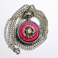 Retro Hollowed-out Silver Men Women Electronic Quartz Pocket Watch