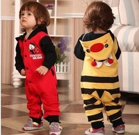 2013 autumn and winter lovely Hooded baby romper bee&coccinella septempunctata girls clothing christmas gift