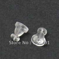 Free ship!!!10000piece/lot 5x7mm Rubber Earring back stopper earnut Jewely findings