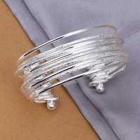 Hot Sell!Wholesale 925 silver bangle bracelet,925 silver fashion jewelry Bracelet,Sandy Light Bracelet Bangle SMTB194