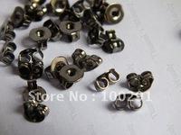 Free ship!!!2000piece Gunmetal black Color Jewelry Earring back Earring Stopper Findings